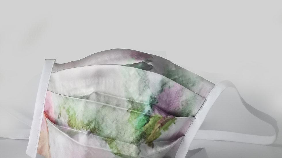 Behelfsmaske Seide - Aqua Color