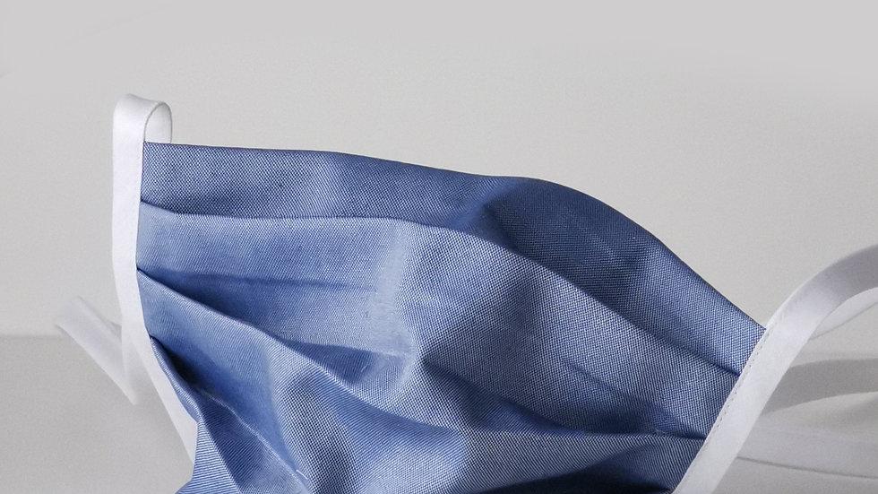 Behelfsmaske Baumwolle - Mittelblau