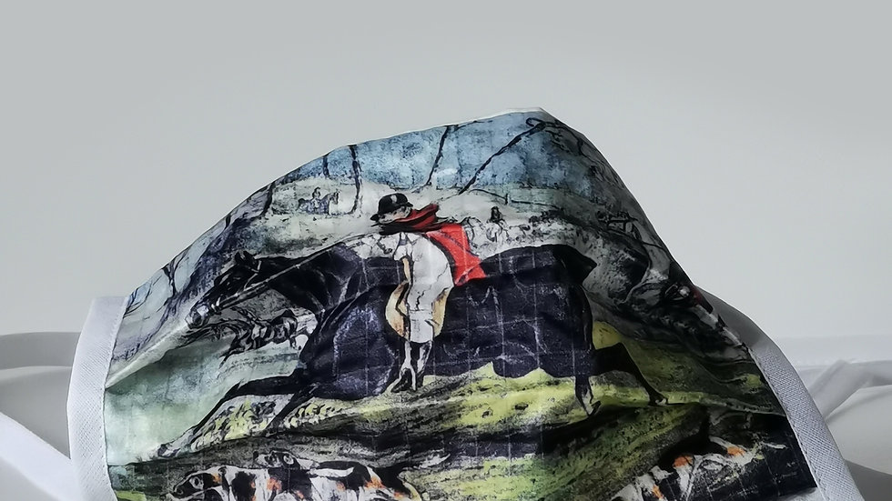 Behelfsmaske Seidendruck/Baumwolle - Hubertus
