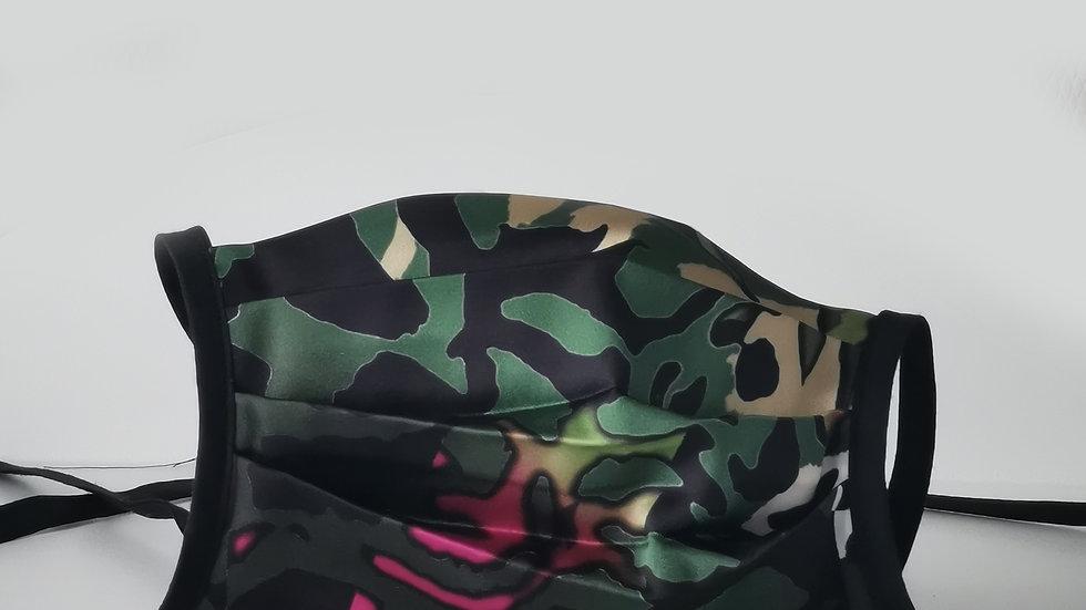 Behelfsmaske Seide - Pink Shadow