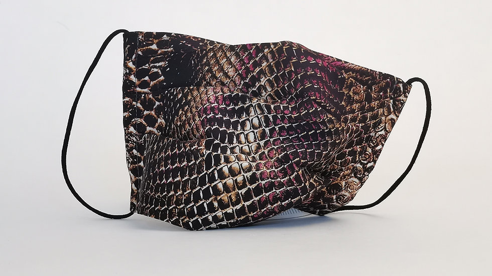 Behelfsmaske Seide - Pink Snake