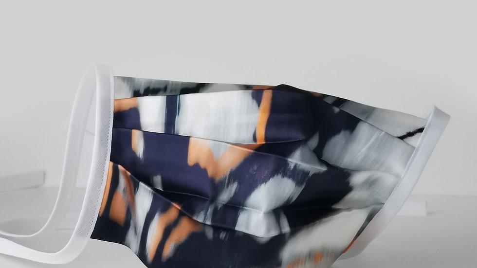 Behelfsmaske Seide - Blue Wave