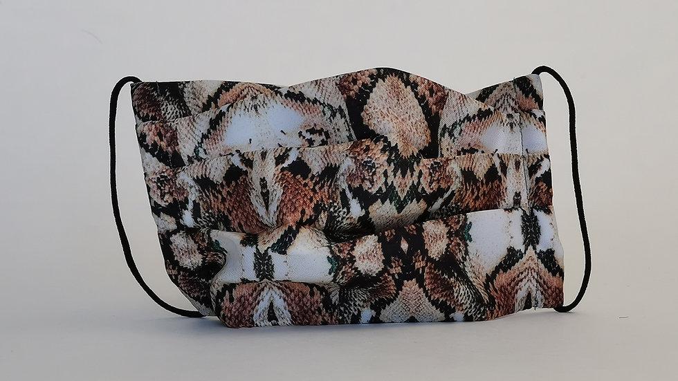 Behelfsmaske Seide - Funky Snake