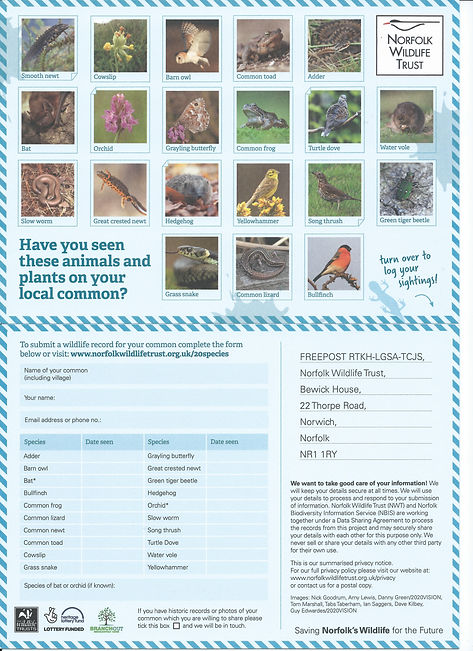 NWT Spotters Card