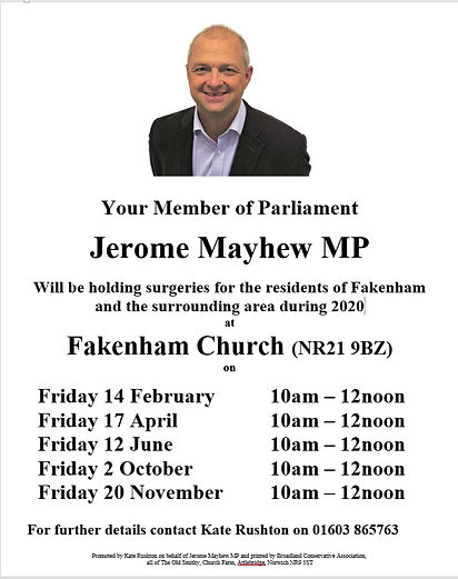 Jerome Mayhew MP Poster