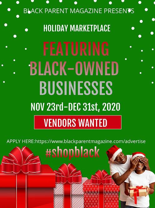 Holiday Marketplace Vendor Fee