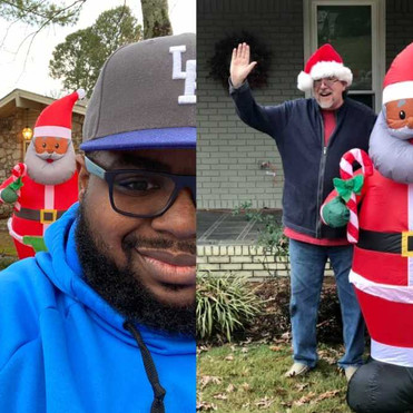 Neighbors Put Up Giant Black Santas To Support Family Blasted With Racist Note Over Theirs