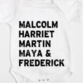 Black Ancestors Baby Onesies