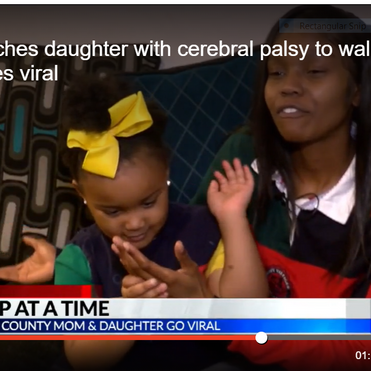 North Carolina single mom goes viral teaching daughter with cerebral palsy how to walk