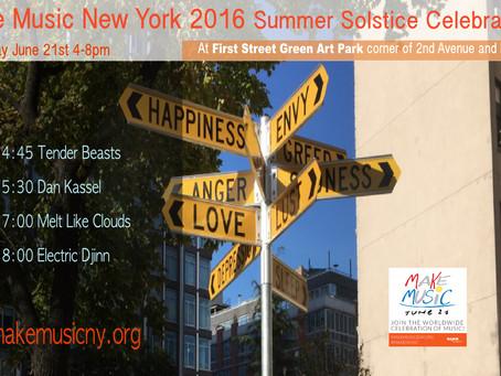 Live June 21st. Summer Solstice Celebration at First Street Green Art Park
