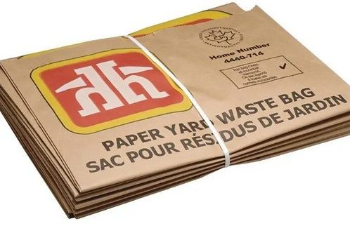 5 Pack Lawn and Leaf Paper Garbage Bags