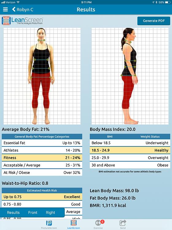 Kroppssammansättning bild posture