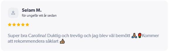 Pakviskliniken/recension/Caroline