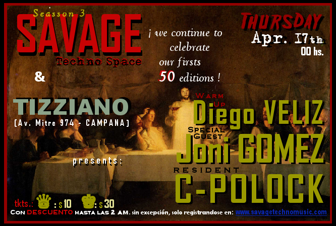 FLYER Edition #51 @ TIZZIANO Bar