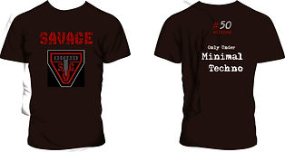remeras Savage Minimal Techno, modelo #07