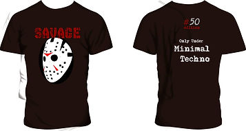 remeras Savage Minimal Techno, modelo #09