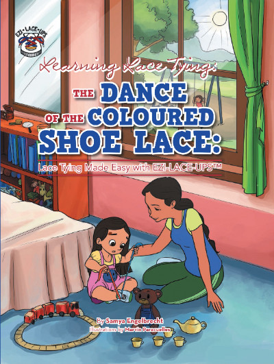 learning lace tying the dance of the coloured shoe lace soft cover book