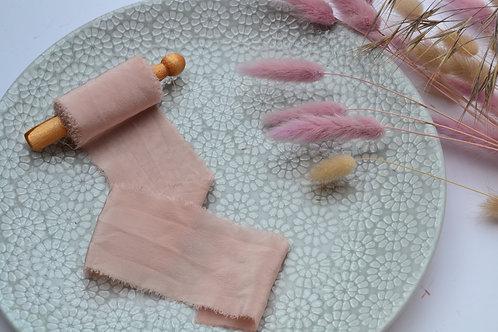Hand Dyed Silk - This little Piggy