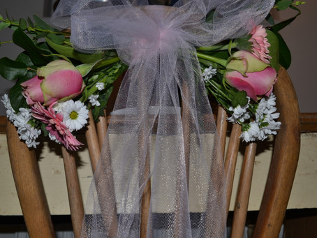 DIY Chair Backs - Flowers and Tulle