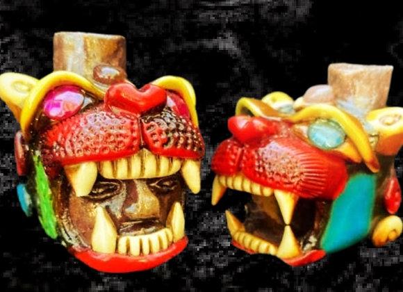 Handmade Mayan Ceremonial Jaguar Call- Small