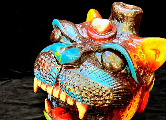 Handmade Ceremonial Mayan Jaguar Call- Large