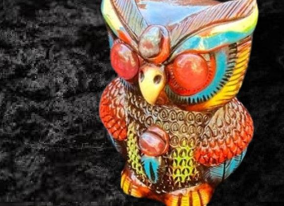 Handmade Mayan Ceremonial Owl Call- Large