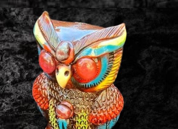 Handmade Mayan Ceremonial Owl-Sm