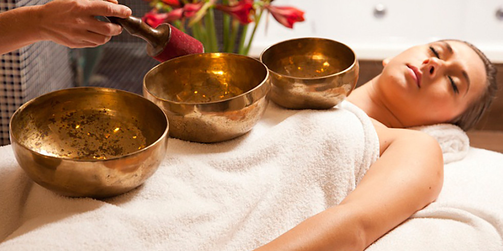 On-line Singing Bowl Workshop part 4- Practitioner laying of singing bowls on the body for healing