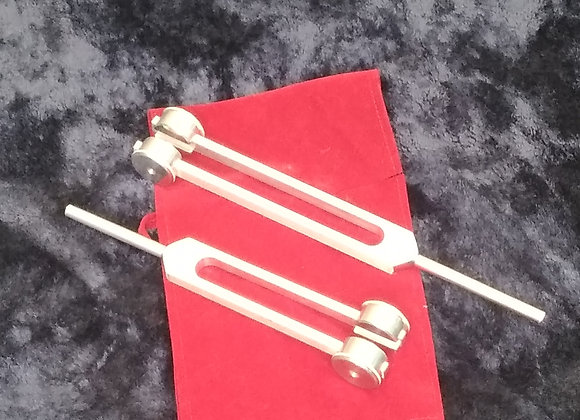 Schumann Frequency Healing Tunging fork Pair