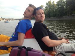Prague on boat