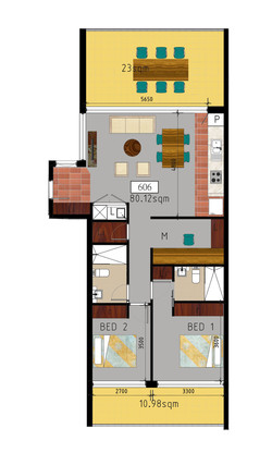 Wolli Creek Spark 806 Floor Plan
