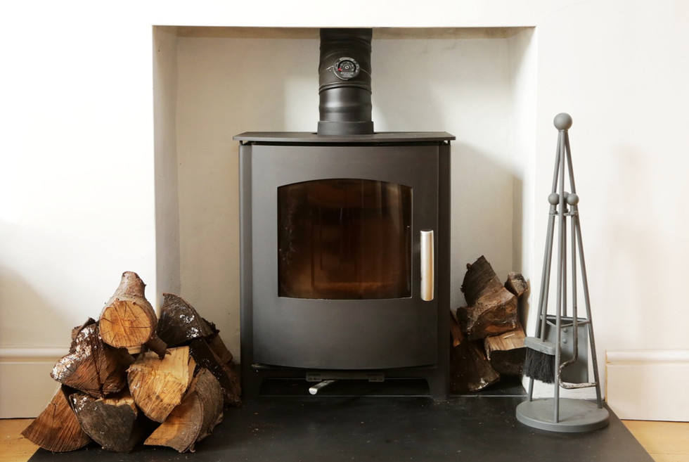Living room wood burning stove
