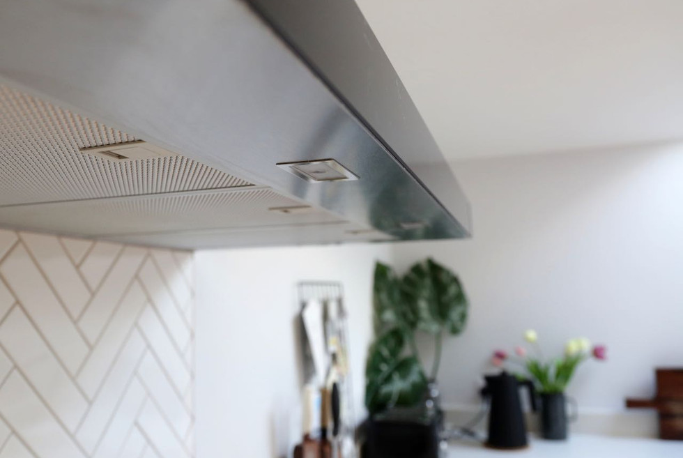 Extractor fan and splashback detail