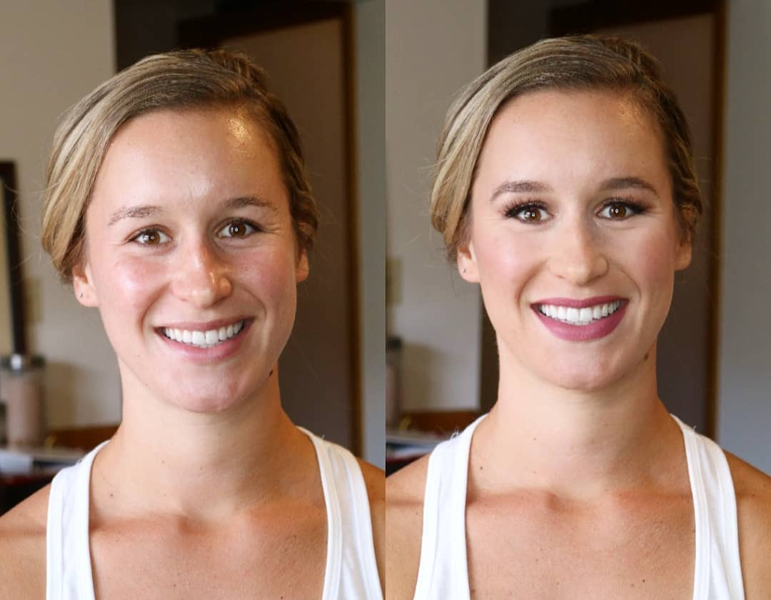 Natural Bride before and after