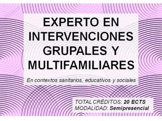 Próximos cursos posgrado terapia grupal y multifamiliar