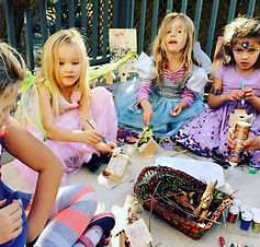 Little Faeries working on their Faery ho
