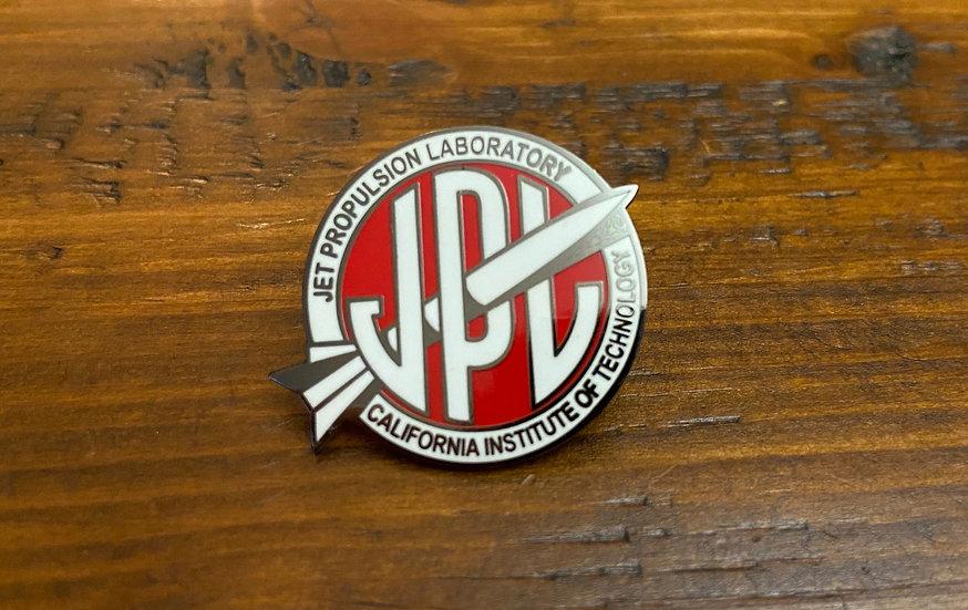 Lapel Pin - Vintage JPL Red