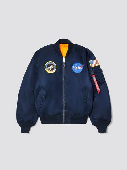 Shuttle Bomber Flight Jacket - Blue