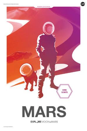 Moon to Mars Poster - Mars