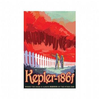 Exoplanet - Kepler-186f  Poster