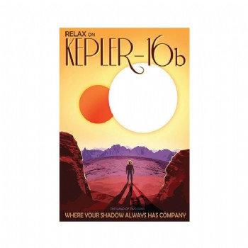 Exoplanet - Kepler-16b  Poster