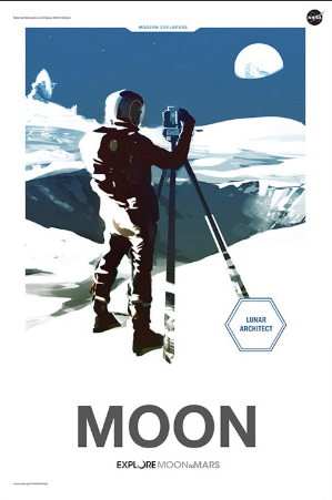 Moon to Mars Poster - Moon