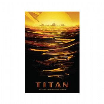 Exoplanet - Titan  5 x 7 Postcard