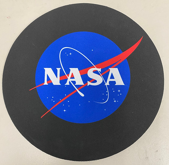 NASA Mouse Pad Round - Meatball on Black Background