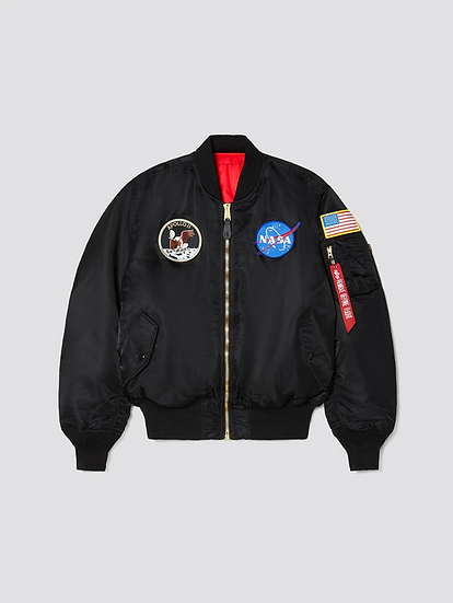 Apollo Bomber Flight Jacket - Black