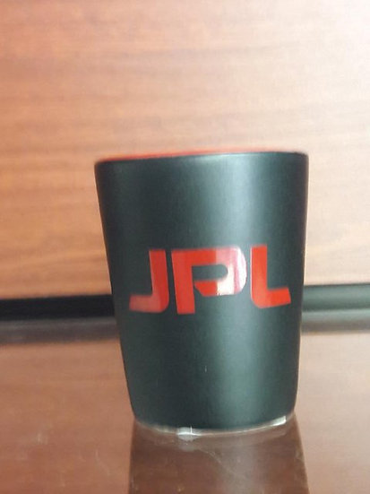 JPL Hhilo Cermaic Shot Glass Black Red