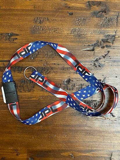 JPL Flag Lanyard Red White and Blue