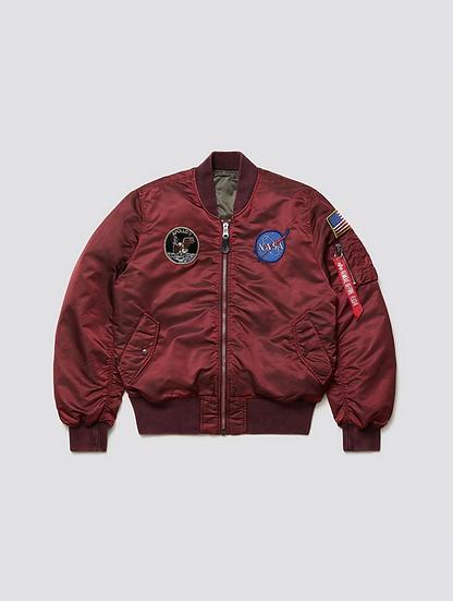 Apollo Battlewash - Bomber Flight Jacket - Red