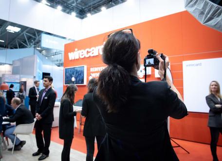 Wirecard Messe-Fotoshooting