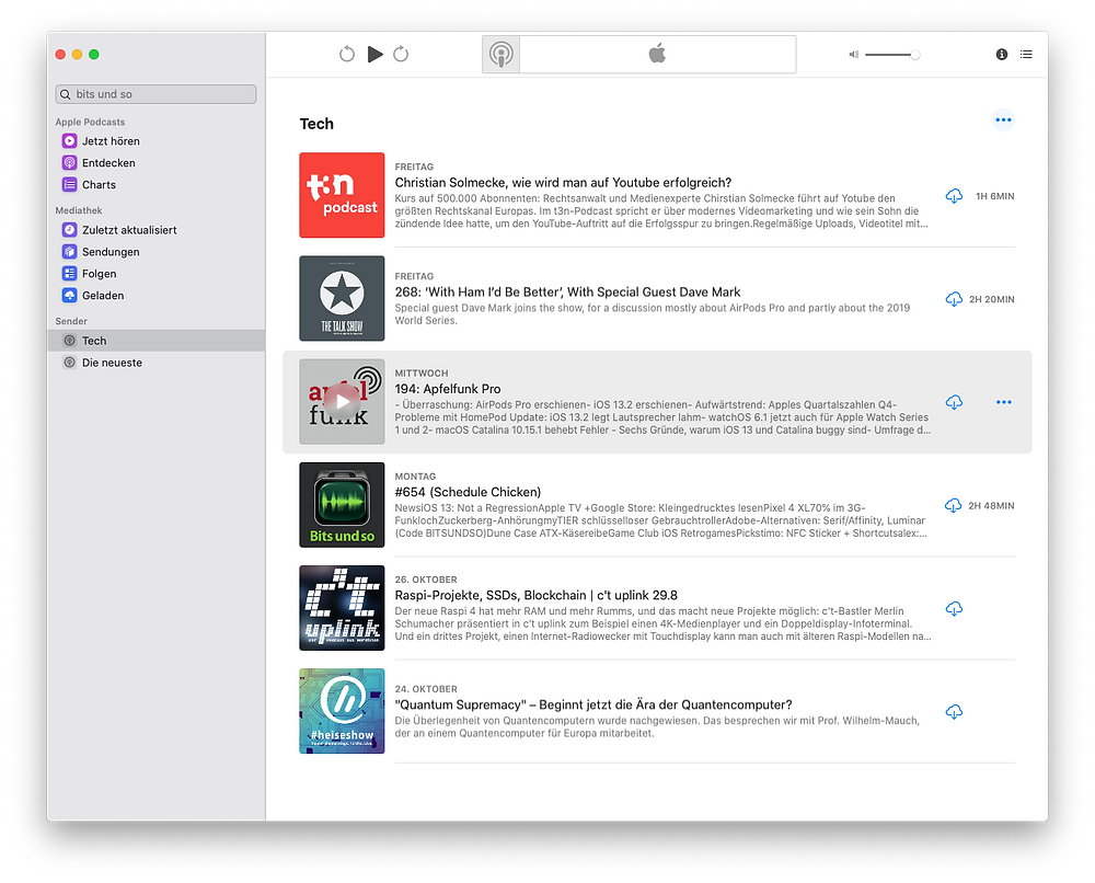 Apple Podcasts for MacOS